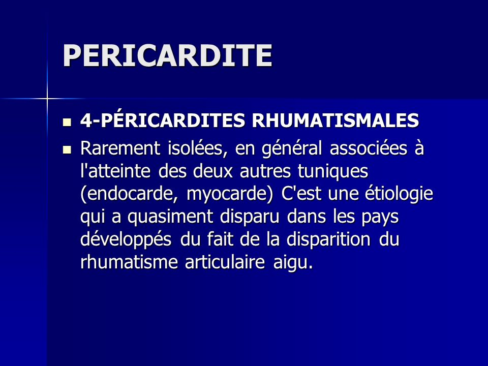 PERICARDITE 4-PÉRICARDITES RHUMATISMALES