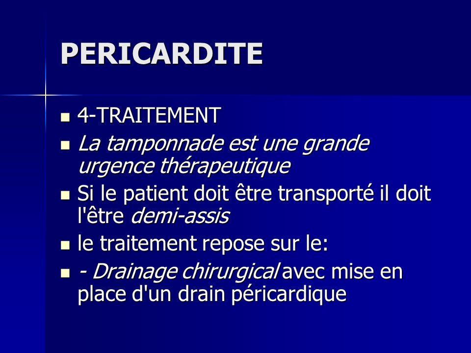 PERICARDITE 4-TRAITEMENT