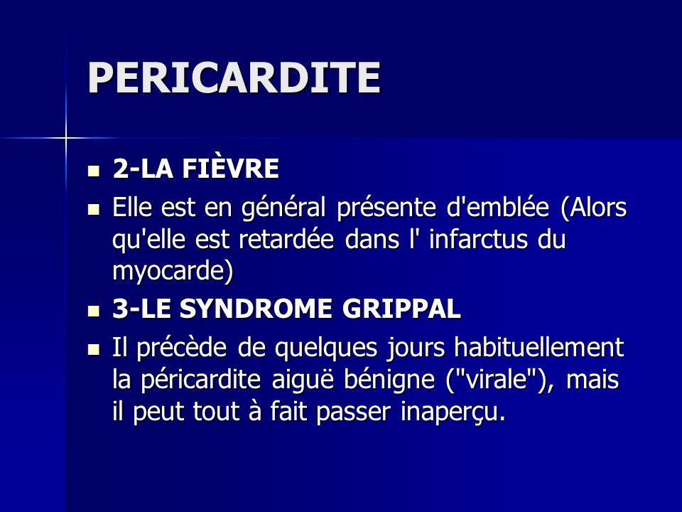 PERICARDITE 2-LA FIÈVRE