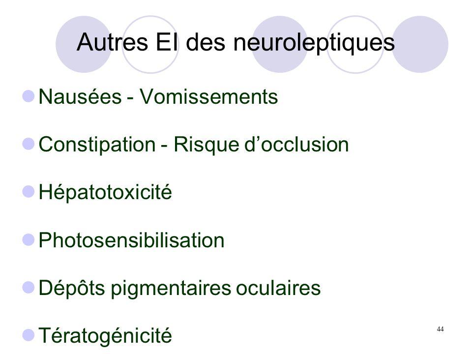 Autres EI des neuroleptiques