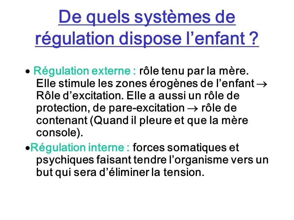 De quels systèmes de régulation dispose l'enfant