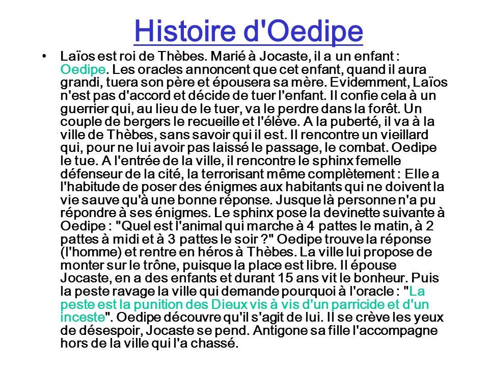 Histoire d Oedipe