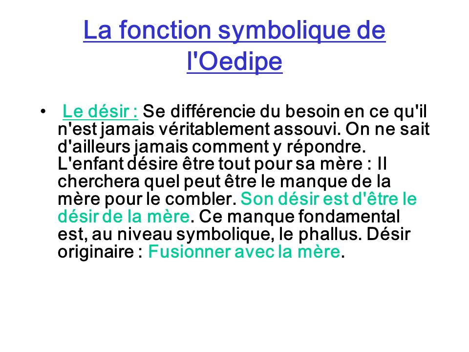 La fonction symbolique de l Oedipe