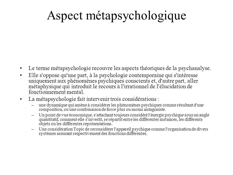 Aspect métapsychologique
