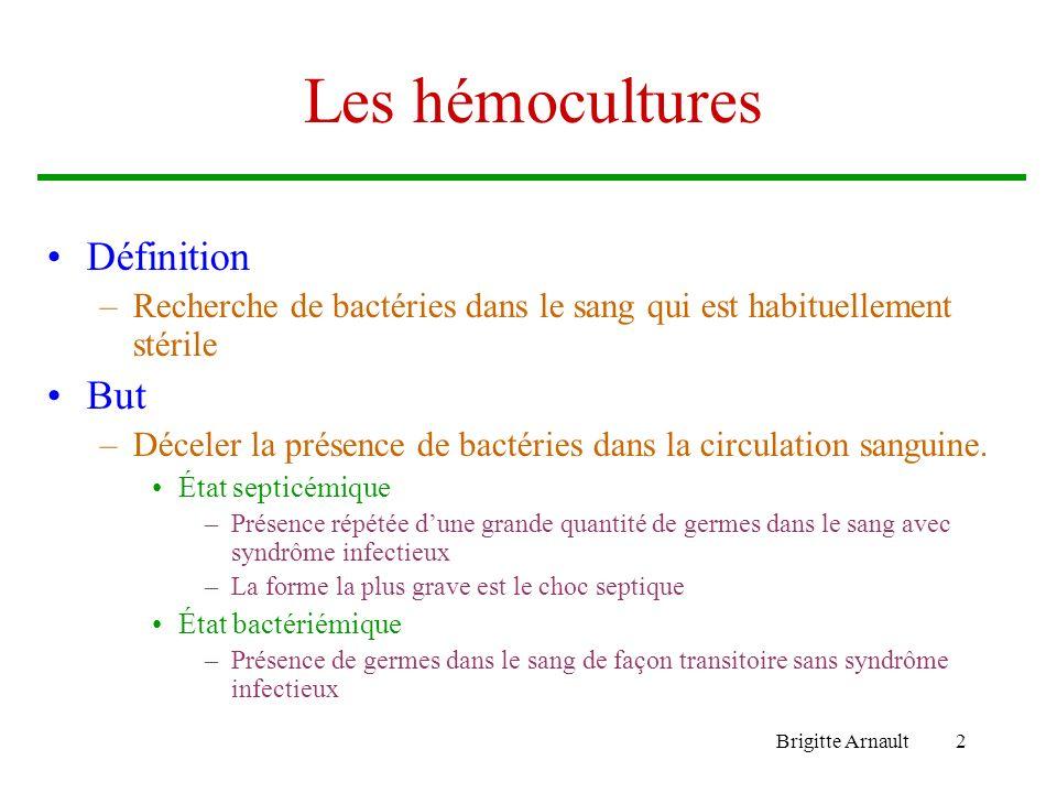 Les hémocultures Définition But