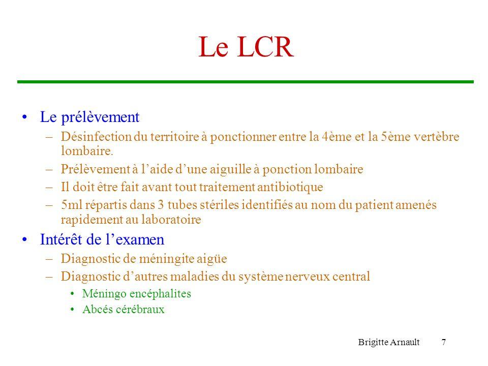Le LCR Le prélèvement Intérêt de l'examen