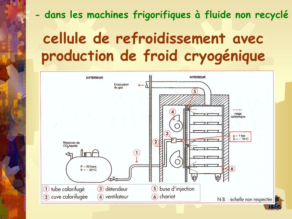 cellule de refroidissement avec production de froid cryogénique