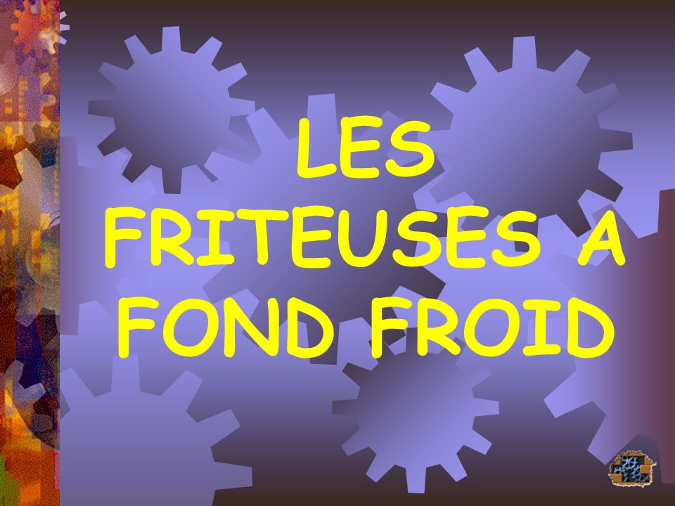 LES FRITEUSES A FOND FROID