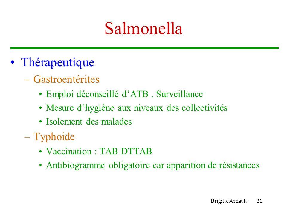 Salmonella Thérapeutique Gastroentérites Typhoide