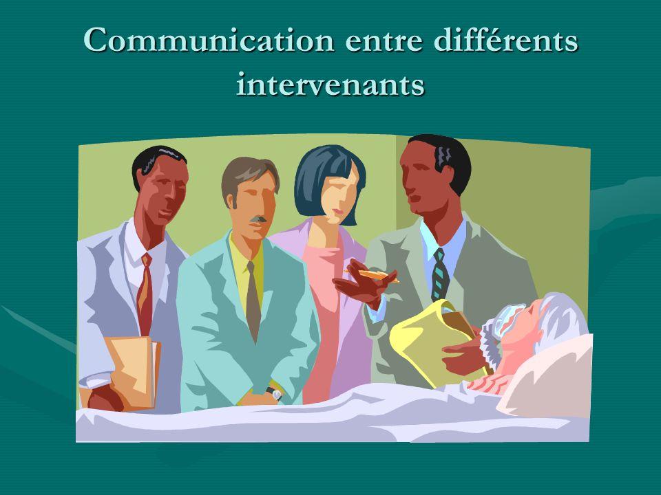 Communication entre différents intervenants