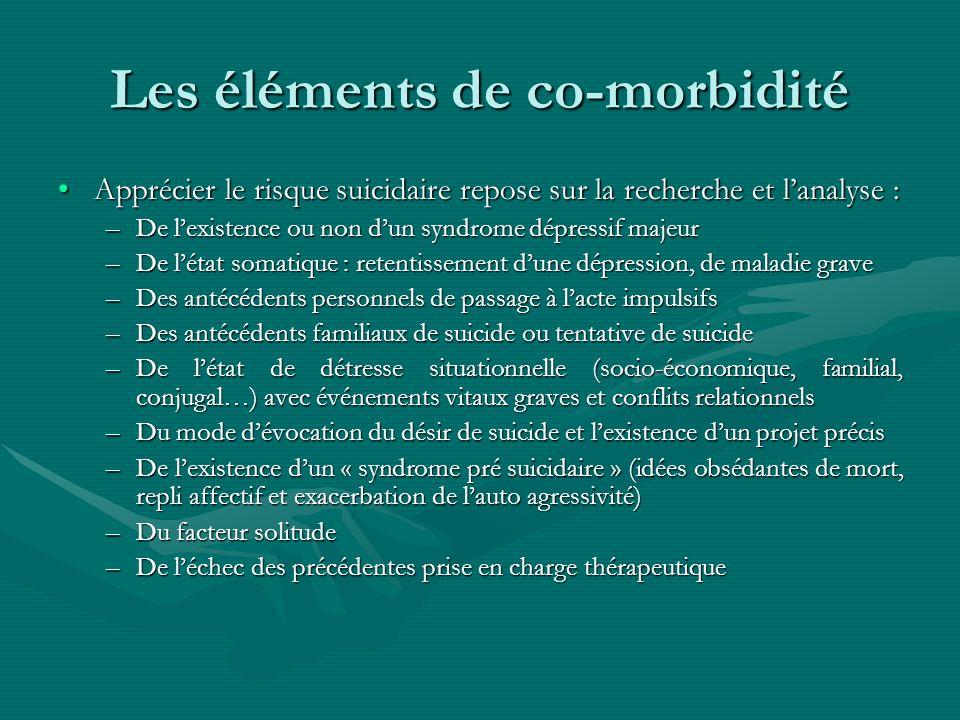 Les éléments de co-morbidité