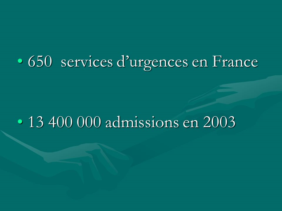 650 services d'urgences en France