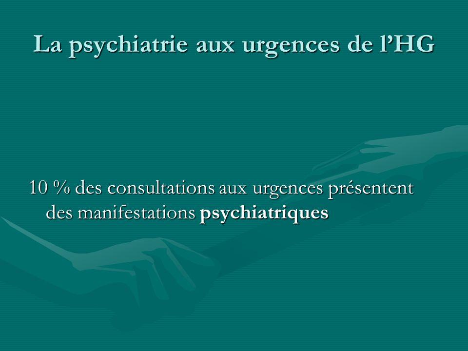 La psychiatrie aux urgences de l'HG