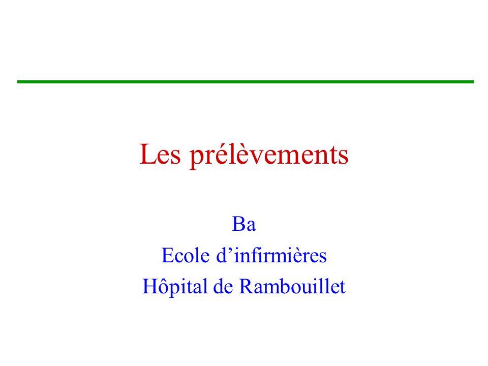 Ba Ecole d'infirmières Hôpital de Rambouillet