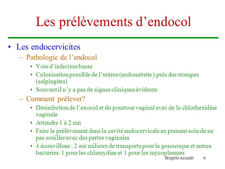 Les prélèvements d'endocol