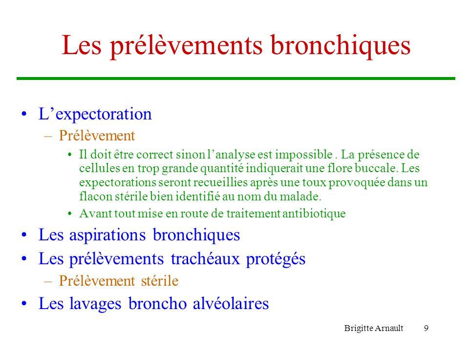 Les prélèvements bronchiques