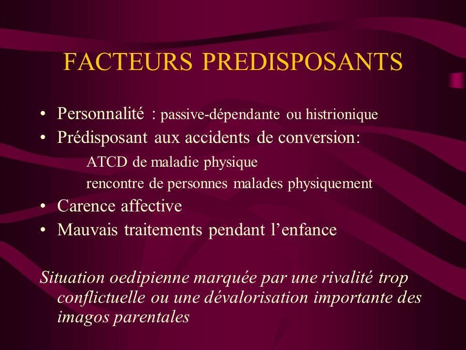 FACTEURS PREDISPOSANTS