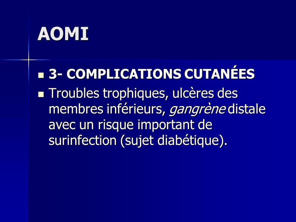 AOMI 3- COMPLICATIONS CUTANÉES