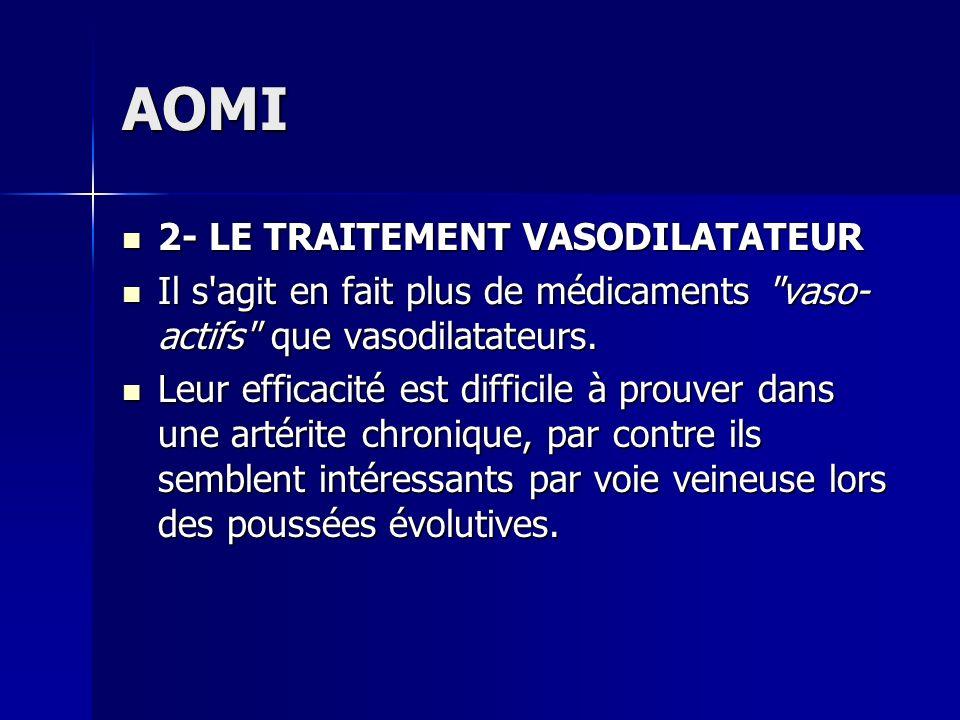 AOMI 2- LE TRAITEMENT VASODILATATEUR
