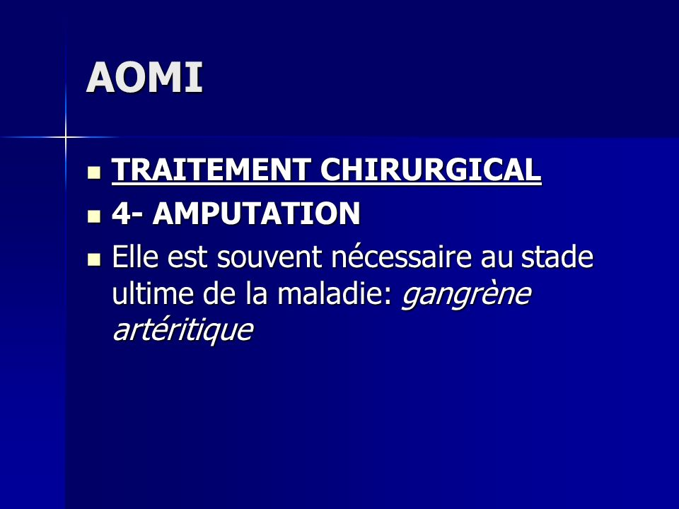 AOMI TRAITEMENT CHIRURGICAL 4- AMPUTATION