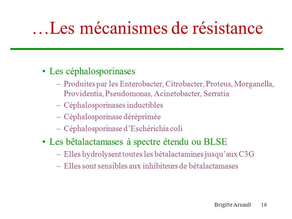 …Les mécanismes de résistance