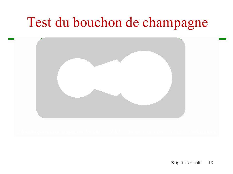 Test du bouchon de champagne