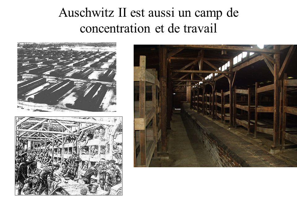 Auschwitz II est aussi un camp de concentration et de travail