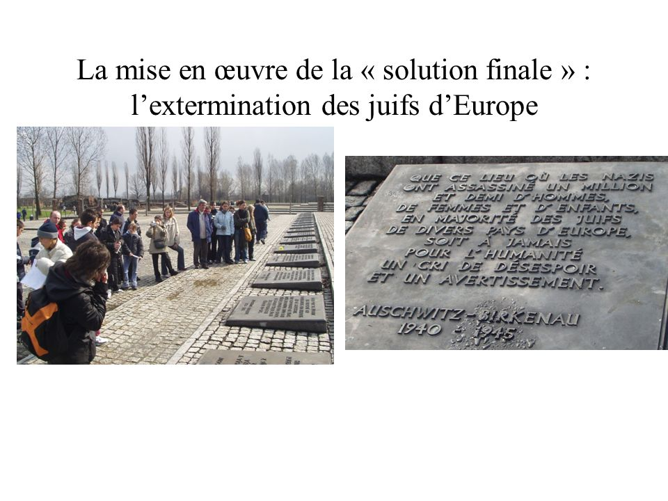 La mise en œuvre de la « solution finale » : l'extermination des juifs d'Europe
