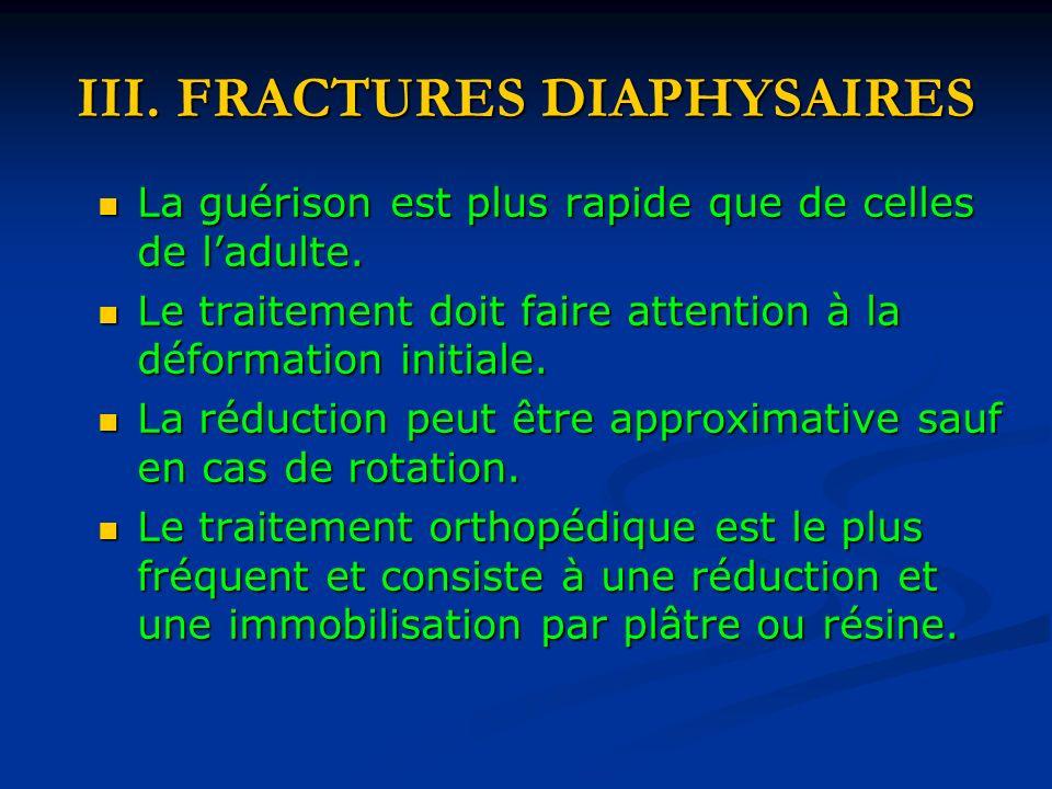 III. FRACTURES DIAPHYSAIRES
