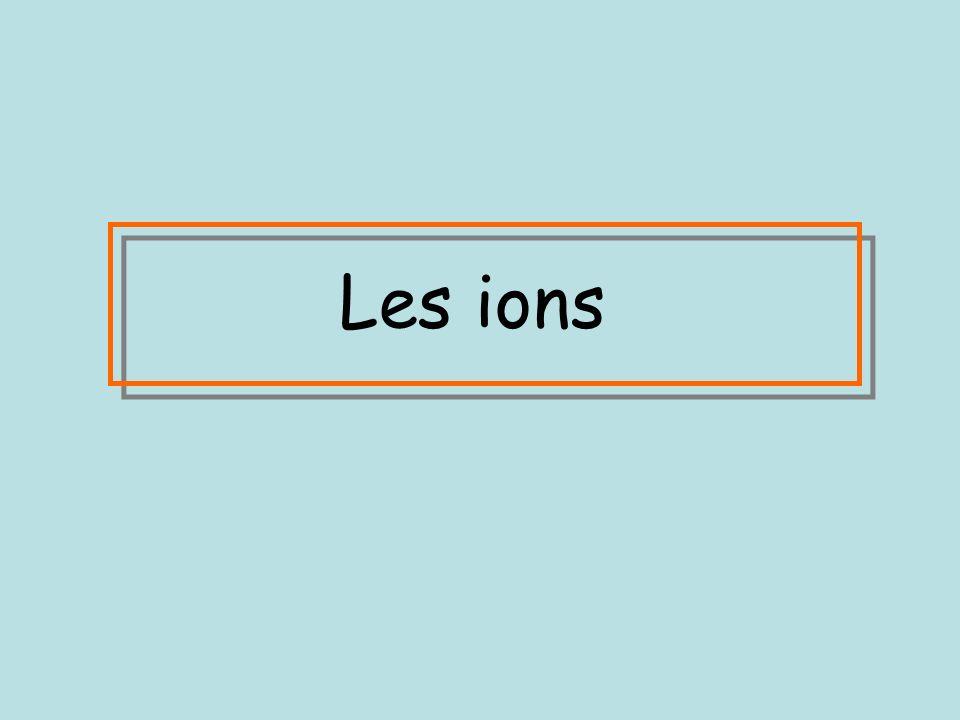 Les ions