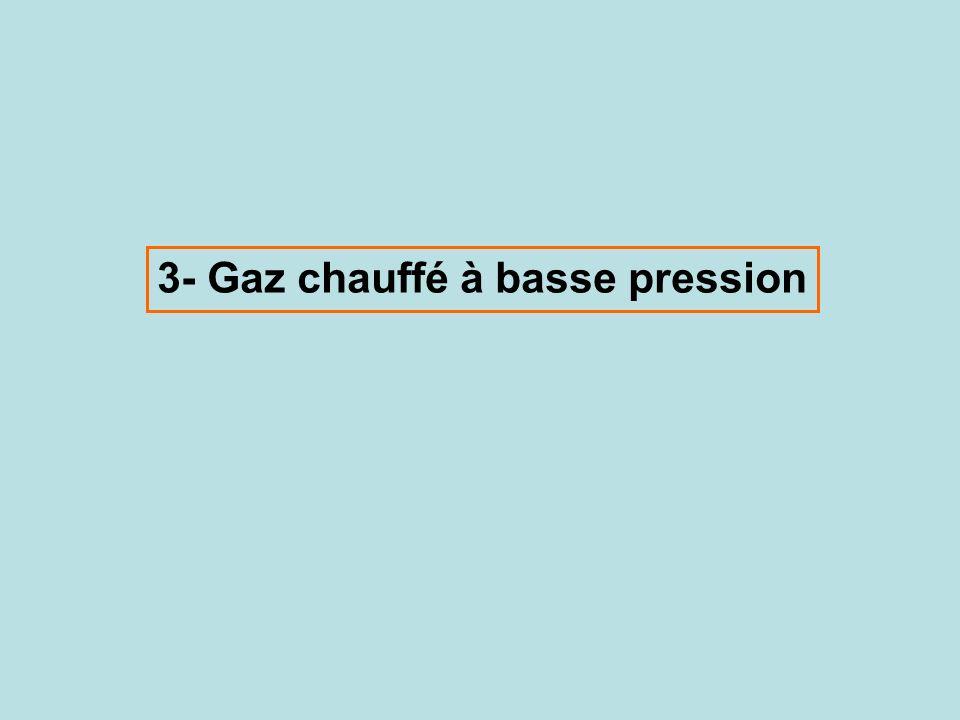 3- Gaz chauffé à basse pression