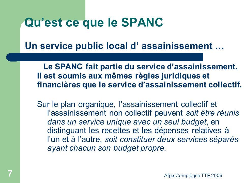 Qu'est ce que le SPANC Un service public local d' assainissement …