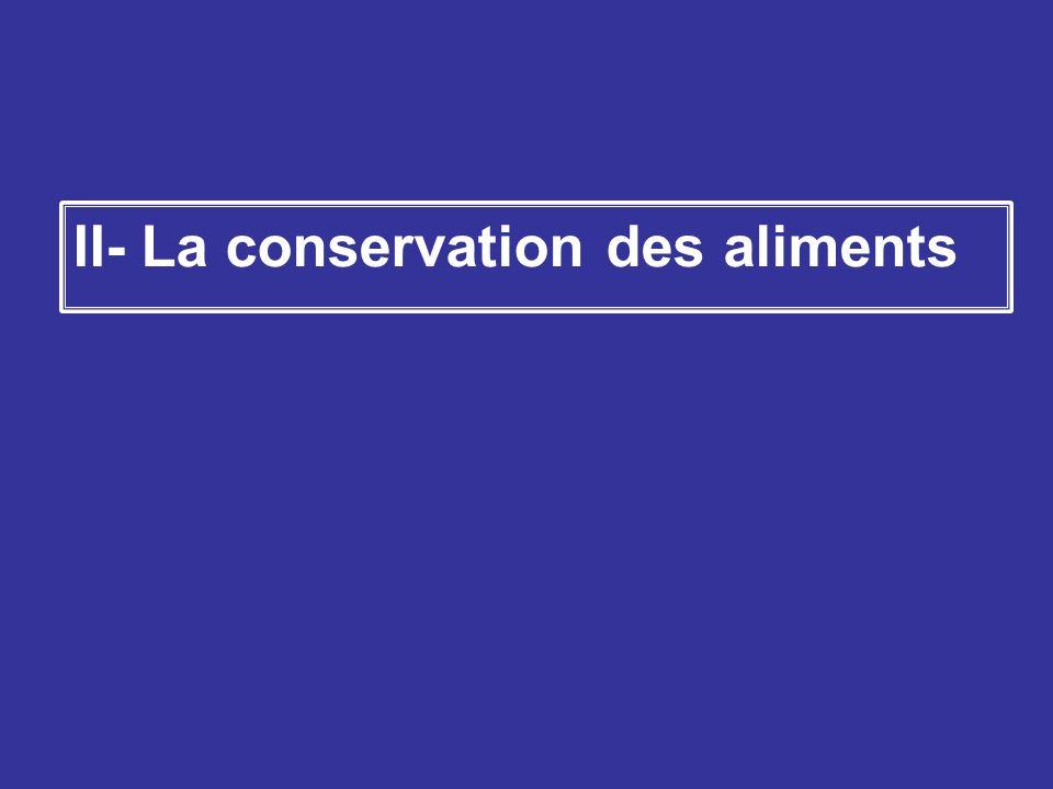 II- La conservation des aliments