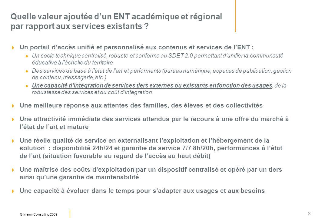 Quelle valeur ajoutée d'un ENT académique et régional par rapport aux services existants