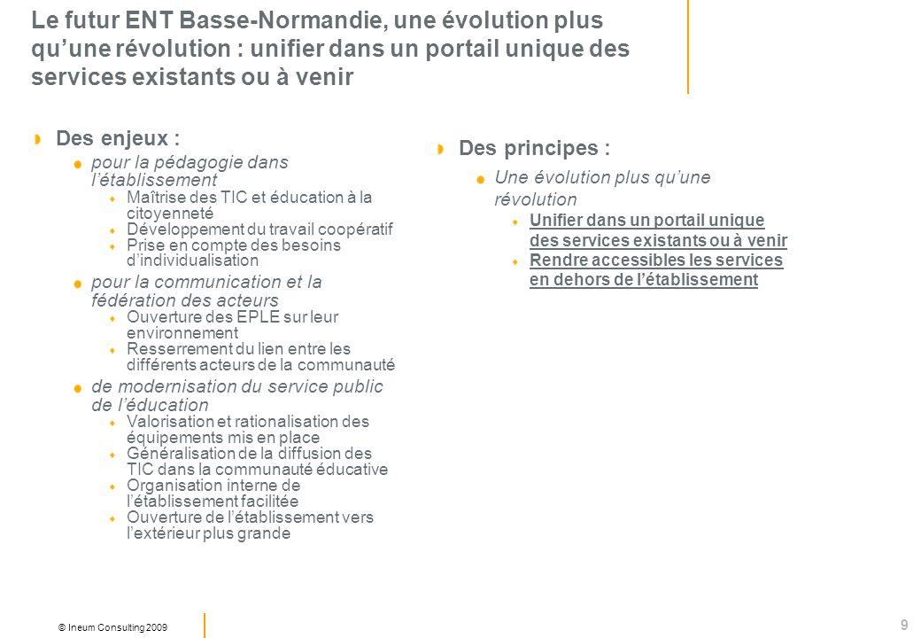 Le futur ENT Basse-Normandie, une évolution plus qu'une révolution : unifier dans un portail unique des services existants ou à venir