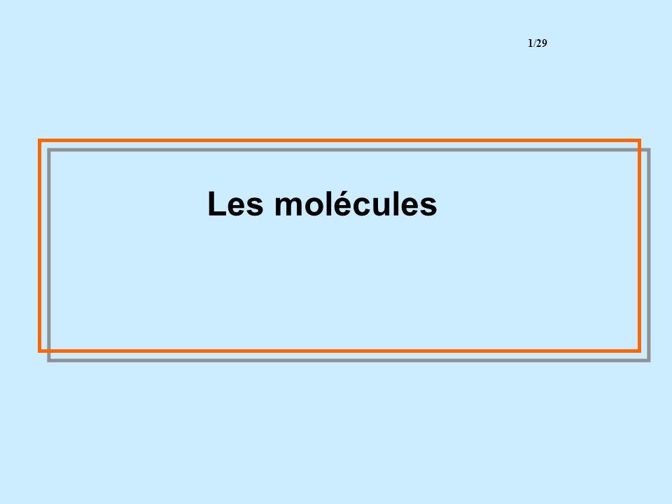 1/29 Les molécules