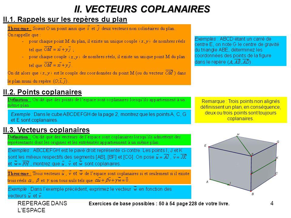 II. VECTEURS COPLANAIRES