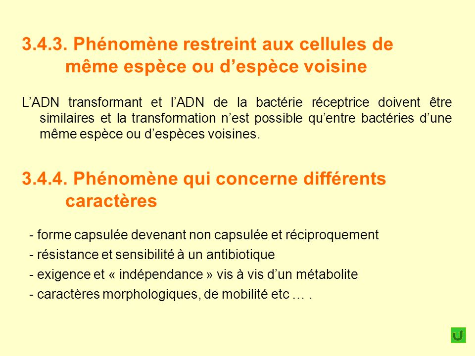 3.4.4. Phénomène qui concerne différents caractères