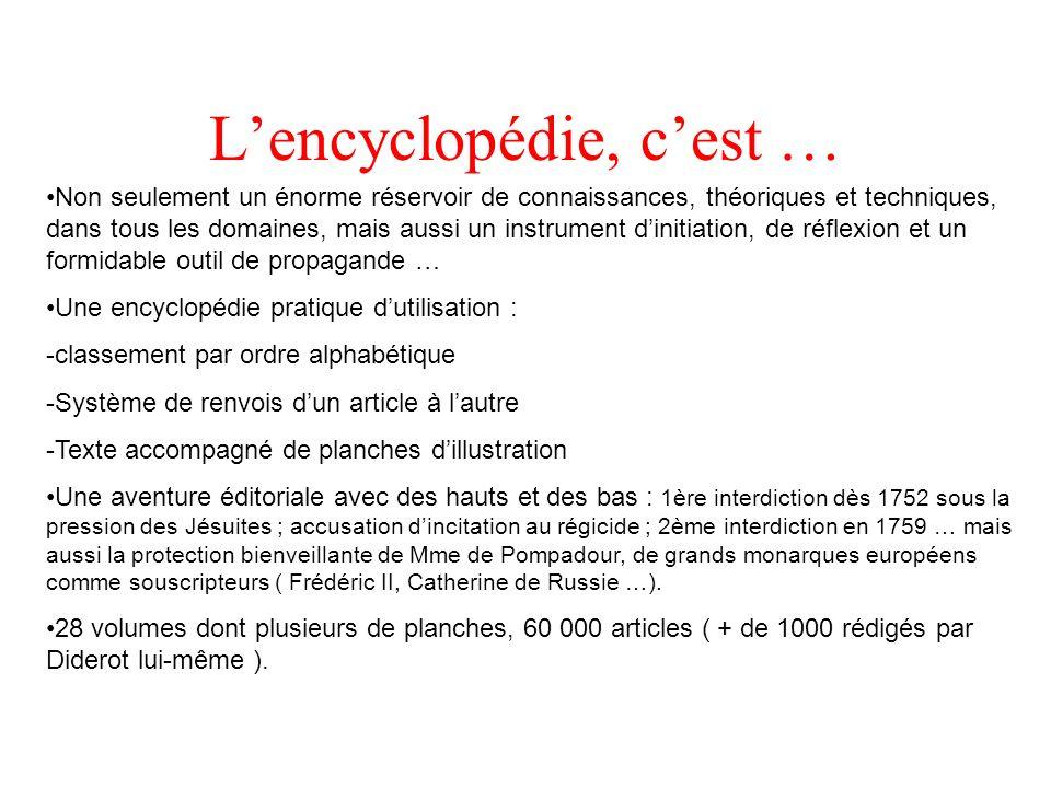 L'encyclopédie, c'est …