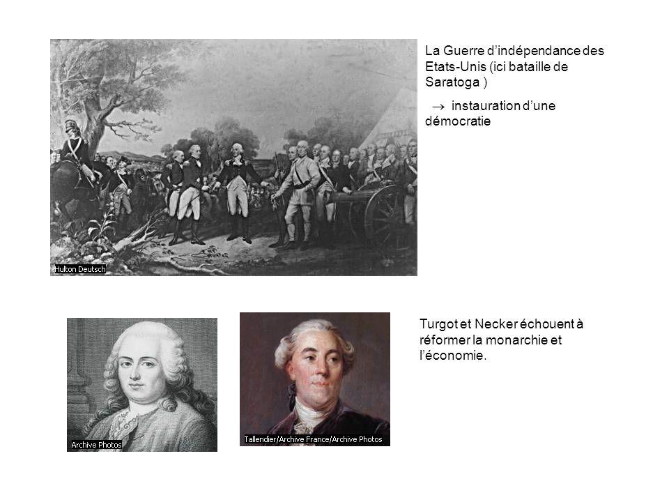 La Guerre d'indépendance des Etats-Unis (ici bataille de Saratoga )