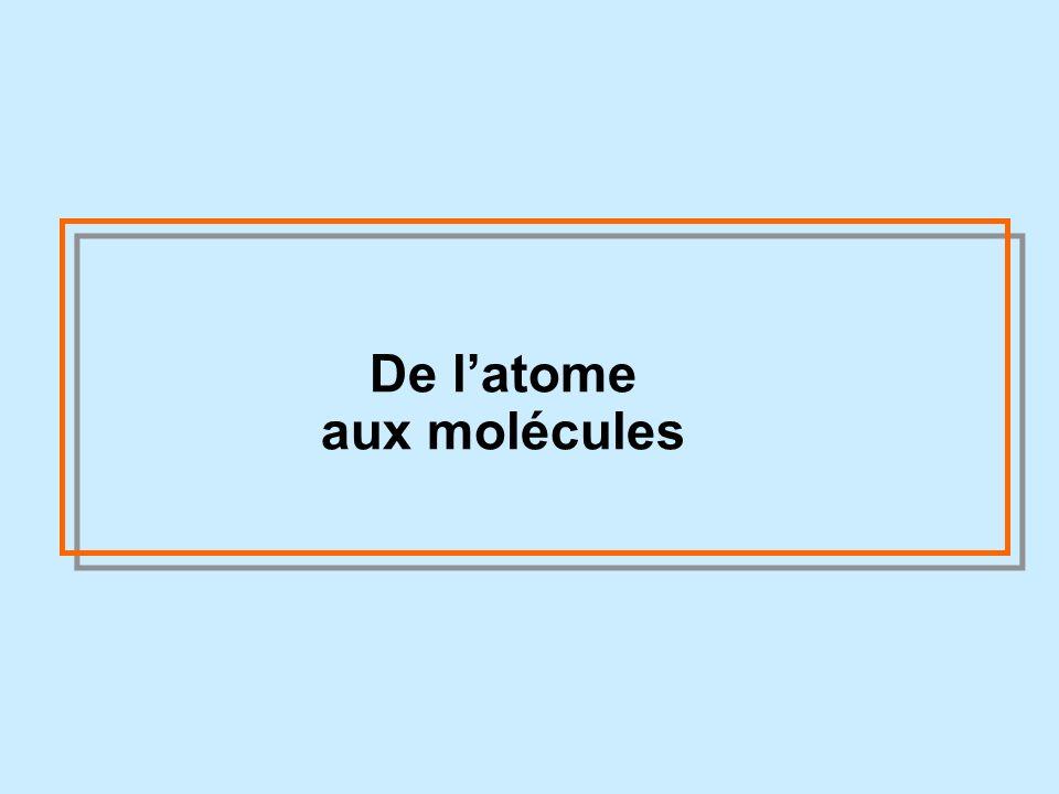 De l'atome aux molécules