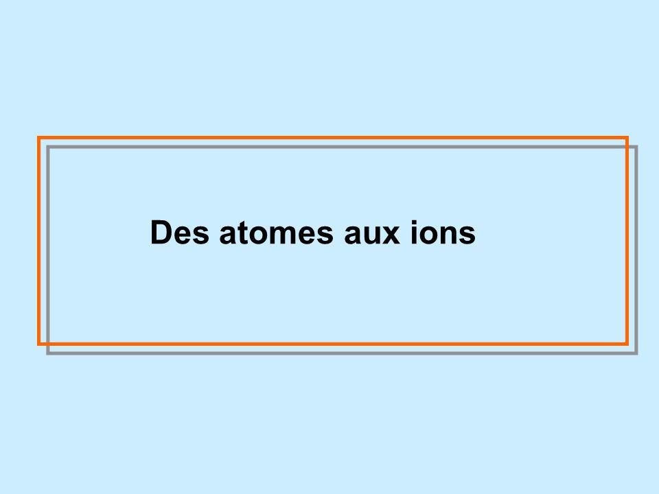 Des atomes aux ions