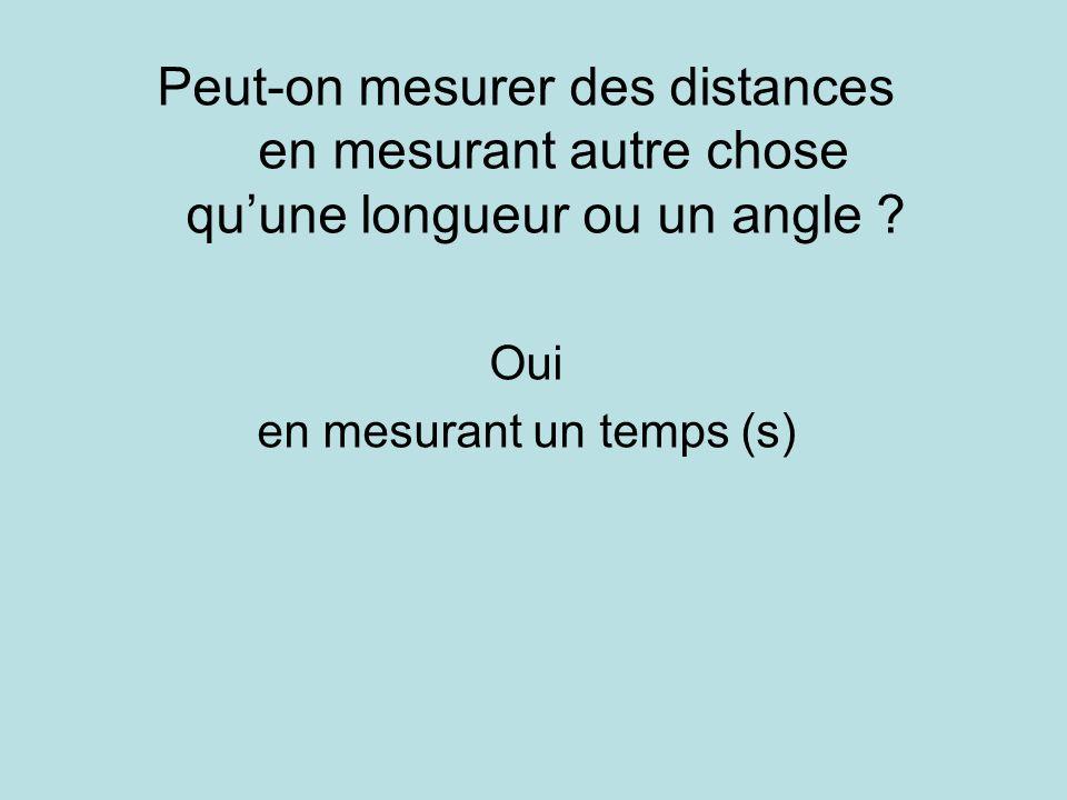 en mesurant un temps (s)