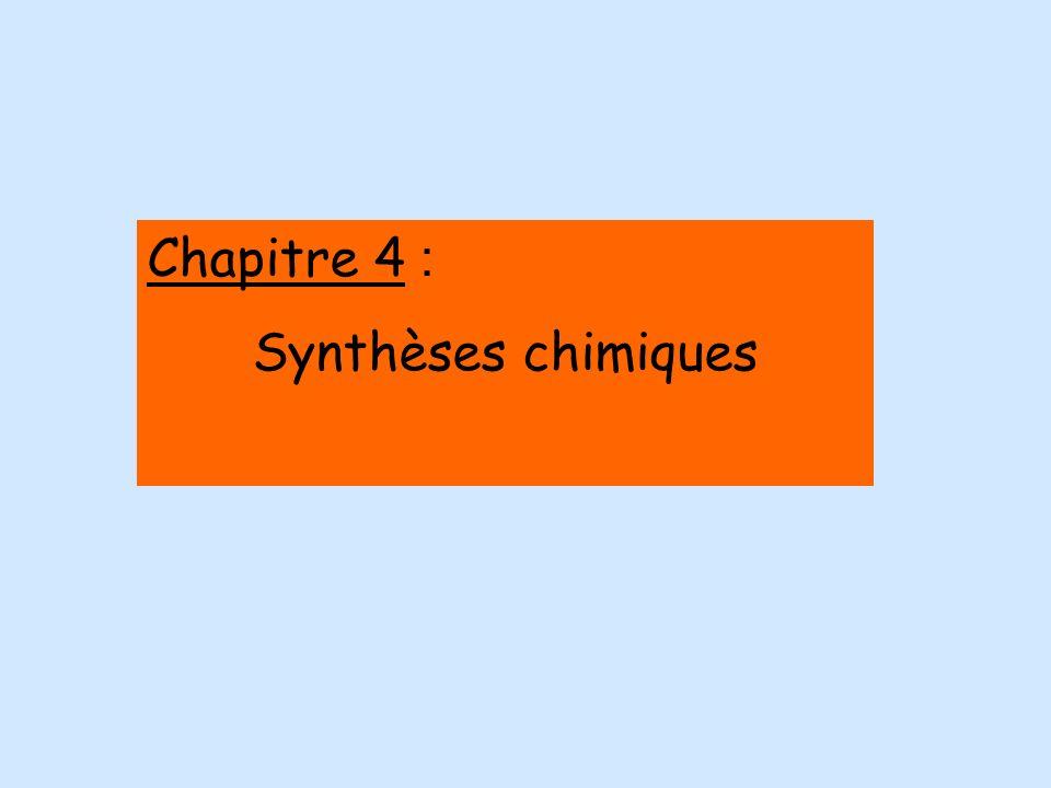 Chapitre 4 : Synthèses chimiques