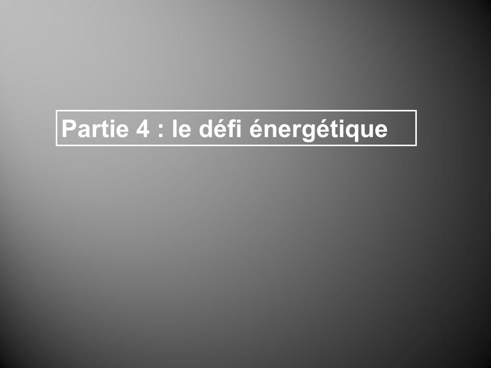 Partie 4 : le défi énergétique