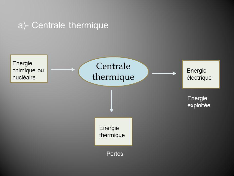 a)- Centrale thermique
