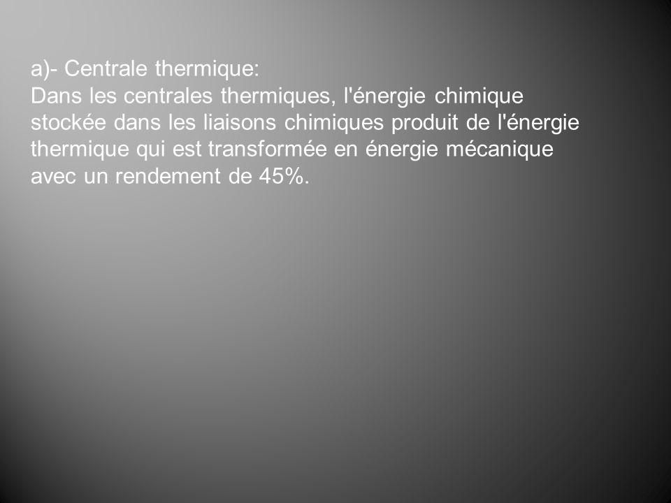 a)- Centrale thermique:
