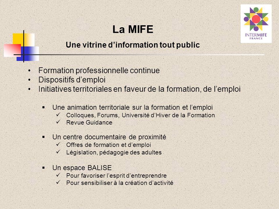Une vitrine d'information tout public