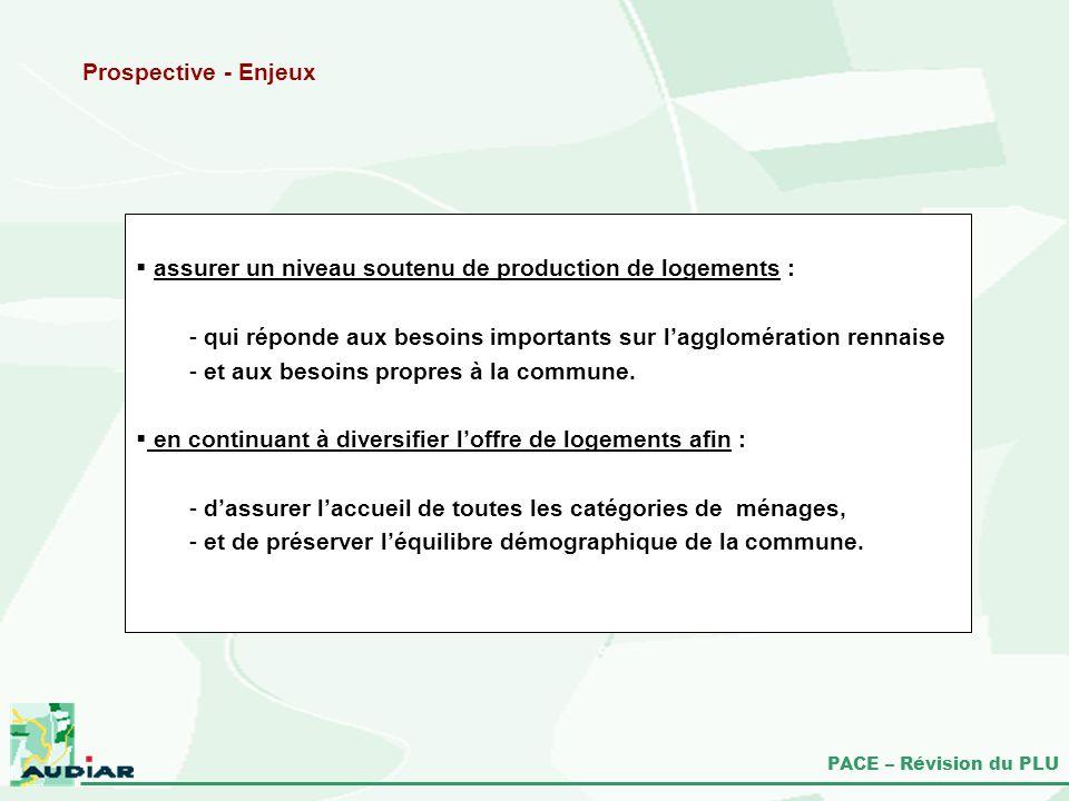 Prospective - Enjeux assurer un niveau soutenu de production de logements : qui réponde aux besoins importants sur l'agglomération rennaise.