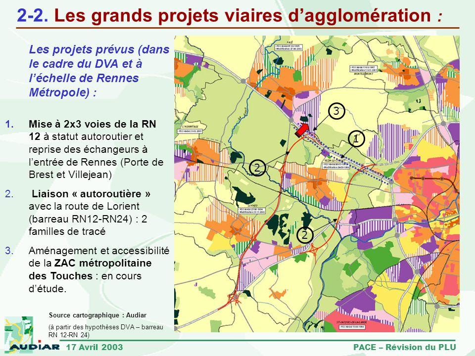 2-2. Les grands projets viaires d'agglomération :